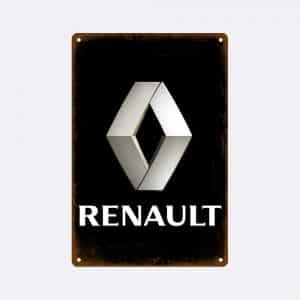 plaque emaillee logo renault