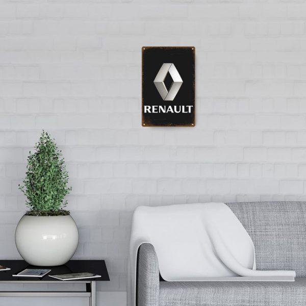 plaque emaillee logo renault decors