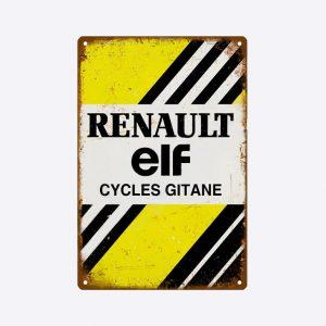 plaque emaillee renault elf