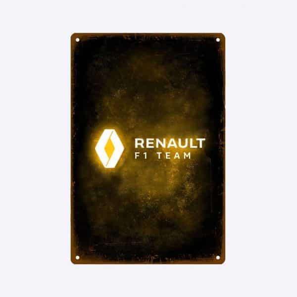 plaque emaillee renault f1