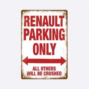 plaque emaillee renault parking