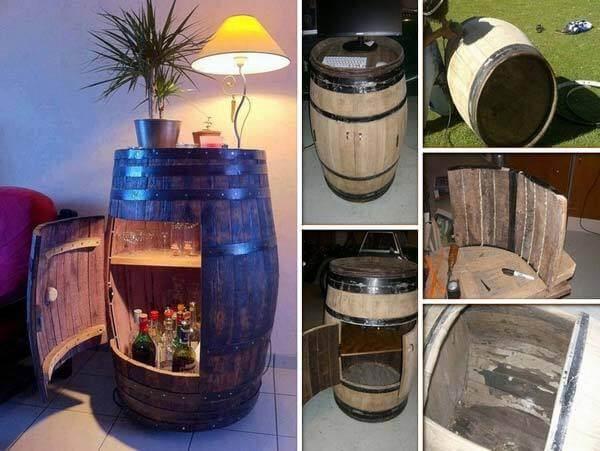 Fût de vin réutilisé