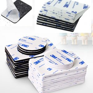 Super fort 3M Double face adhésif mousse bande de montage fixation Pad auto-adhésif points deux côtés montage ruban adhésif 10-100 pièces