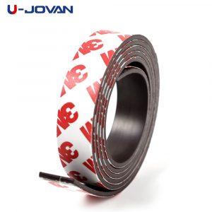 1 mètre 10*1 10*2 12*2 15*1 20*1 30*1mm bande magnétique souple auto-adhésive en caoutchouc bande magnétique largeur 10mm/15mm/30mm