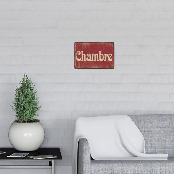 Plaque de rue chambre decors | Plaque de Porte Chambre