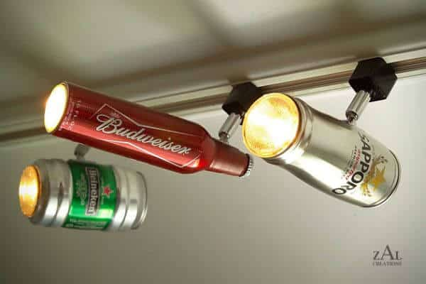 canettes de bières recyclées