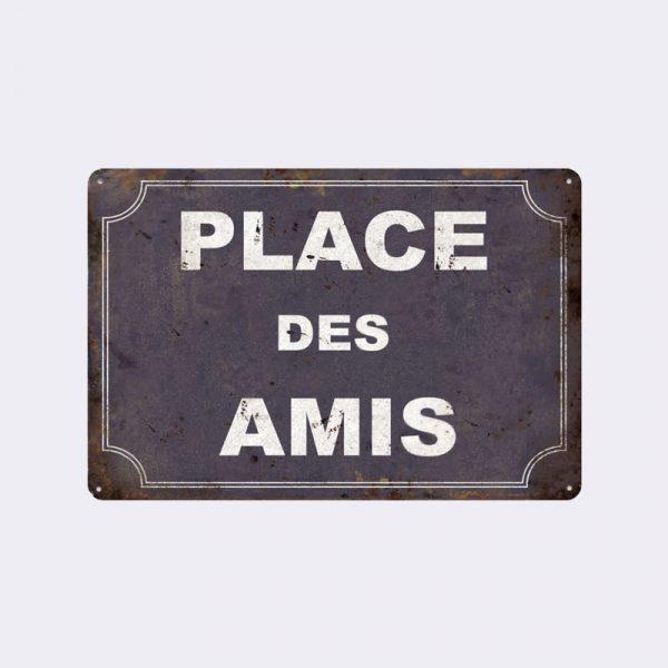 plaque de rue amis