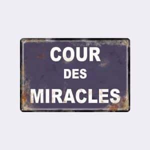 plaque de rue cour des miracles
