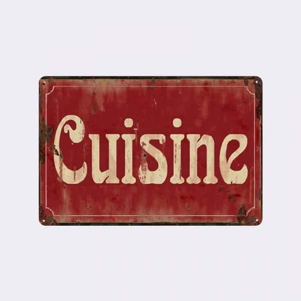 plaque de rue cuisine