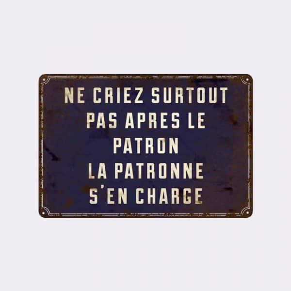 plaque de rue patron