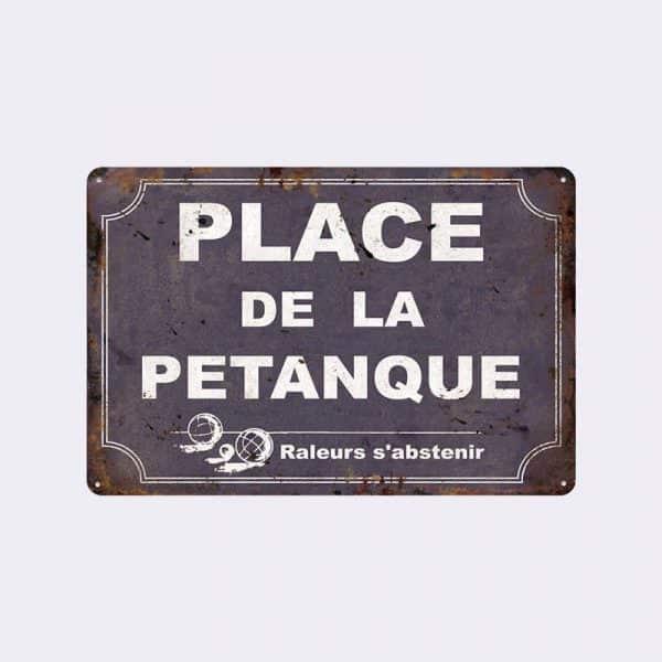 plaque de rue petanque