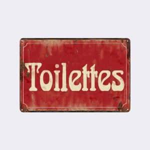 plaque de rue toilettes