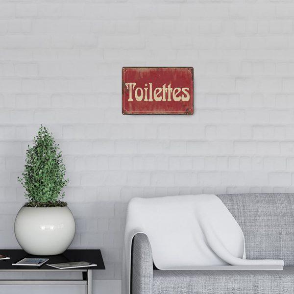 plaque de rue toilettes decors