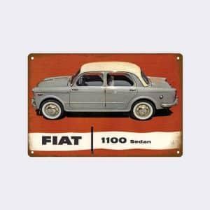 plaque emaillee fiat1100