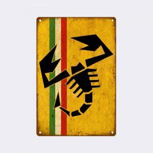 plaque emaillee fiat scorpion