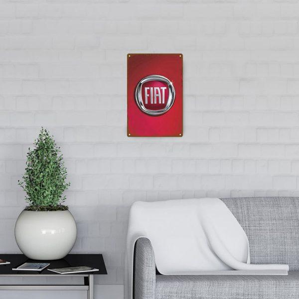 plaque emaillee logo fiat