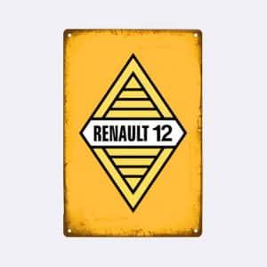 plaque emaillee renault logo