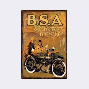plaque emaillee moto publicitaire