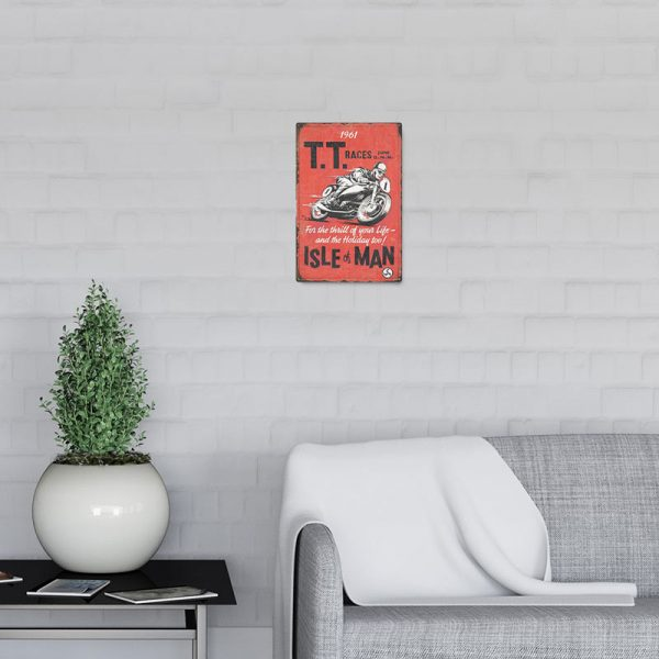 plaque emaillee moto racing