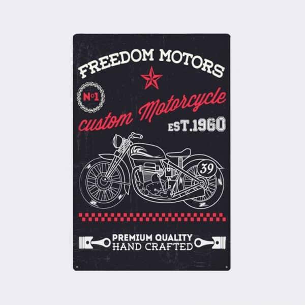 plaque emaillee moto retro