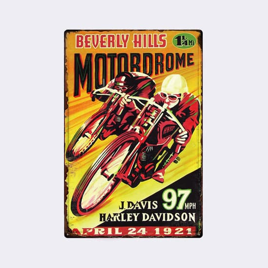 plaque emaillee moto