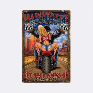 plaque emaillee moto rock