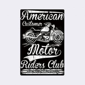 plaque emaillee moto vintage