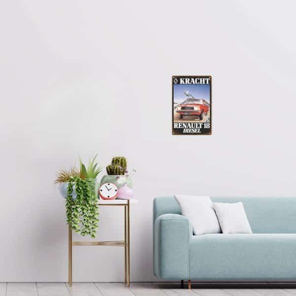 plaque emaillee renault 18 decors