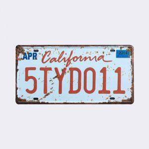 plaque-immatriculation usa california