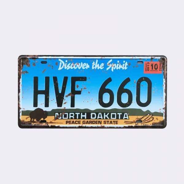 plaque-immatriculation usa dakota