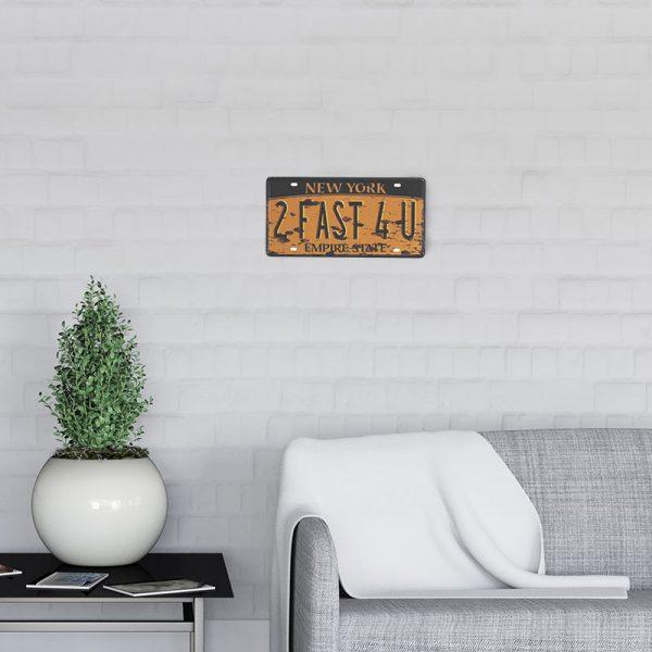 plaque-immatriculation usa newyork decors