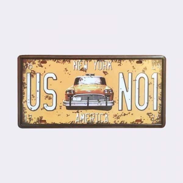 plaque-immatriculation usa newyork vintage