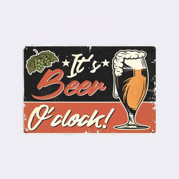 plaque metal biere vintage