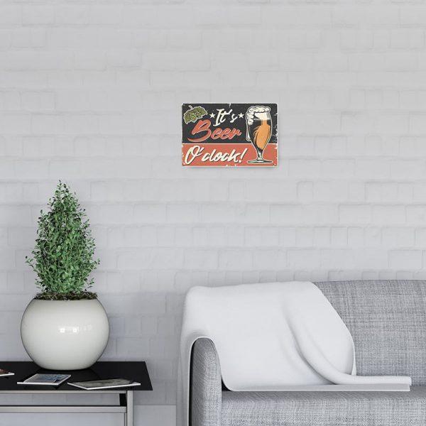 plaque metal biere vintage decors | Plaque Vintage Bière