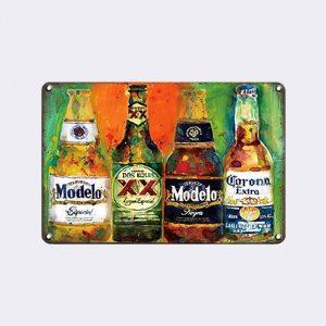 plaque metal deco biere