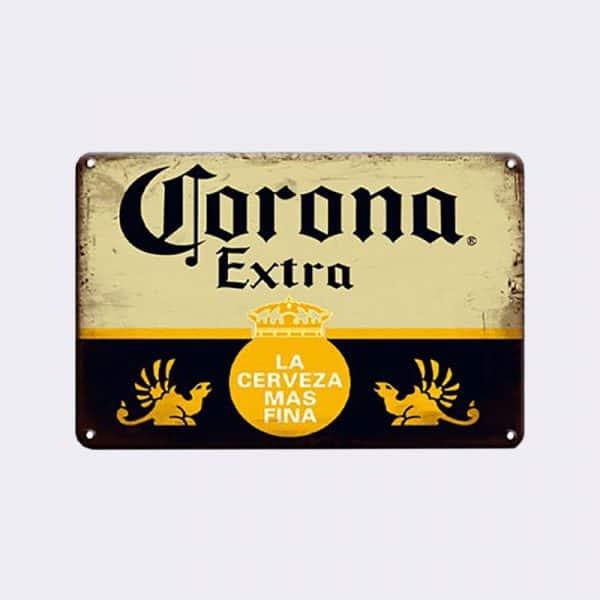 plaque metal deco biere corona