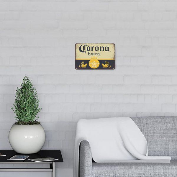 plaque metal deco biere decors