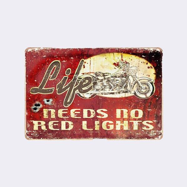 plaque moto publicitaire