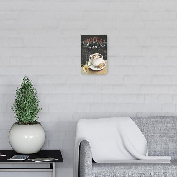 plaque metal vintage cafe 3 decors | Plaque Vintage Café
