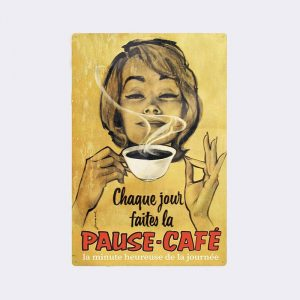 plaque metal vintage cafe