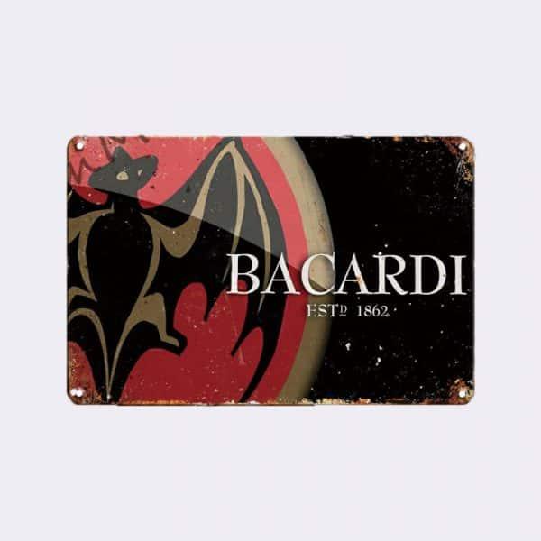 plaque publicitaire bacardi