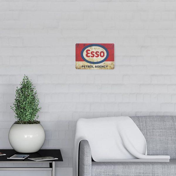 plaque publicitaire esso decors 1 | Plaque Publicitaire Esso Petrol Agency