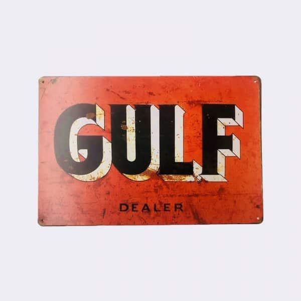 plaque publicitaire gulf