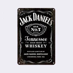 plaque publicitaire jack daniels