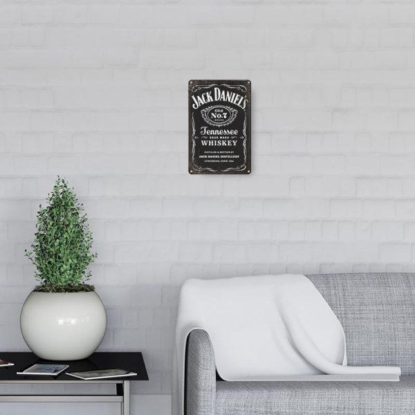 plaque publicitaire jack daniels decors
