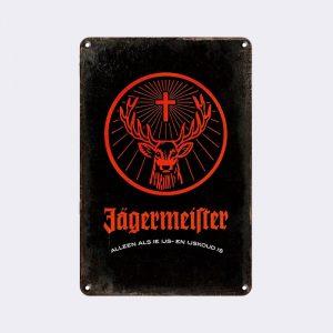 plaque publicitaire jagermeister