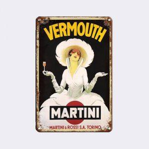 plaque publicitaire martini