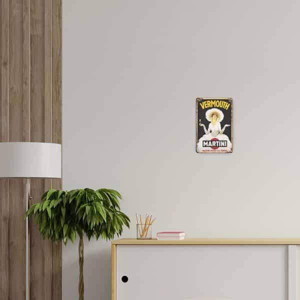 plaque publicitaire martini decors