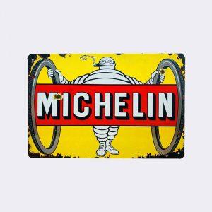 plaque publicitaire michelin