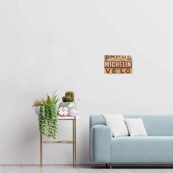 plaque publicitaire michelin decors 1 | Plaque Publicitaire Michelin Pneus Velo